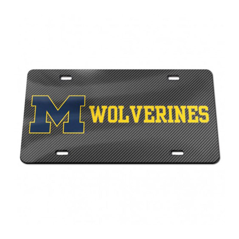 UM Carbon Wolverines License Plate