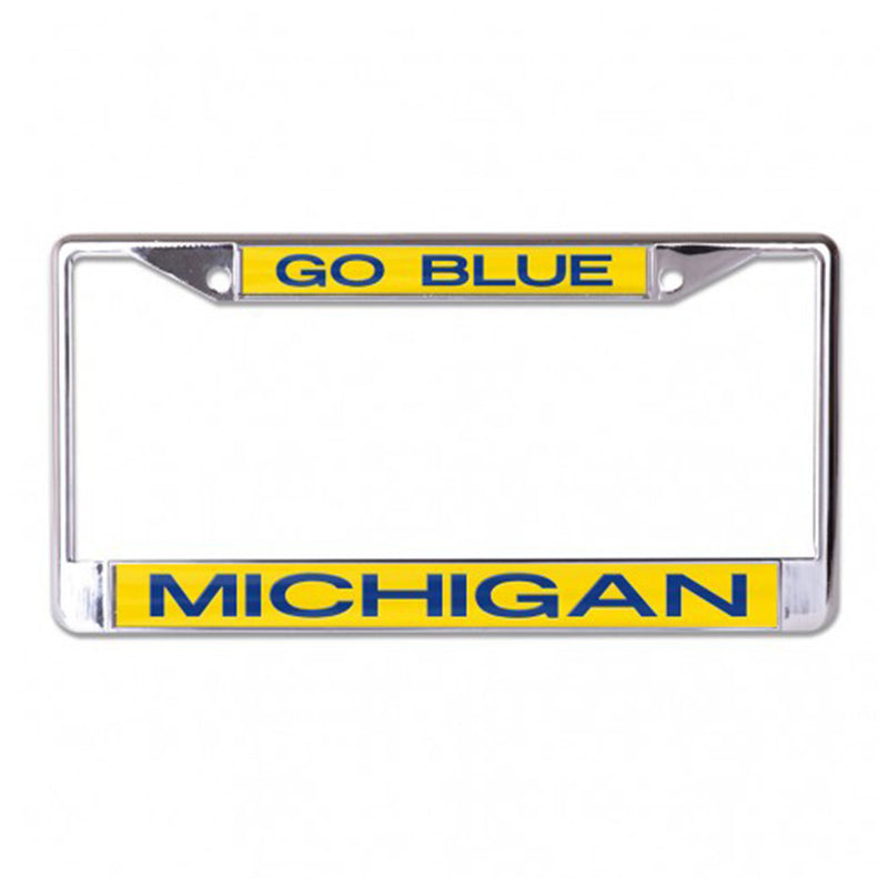 GO BLUE UM License Plate Frame