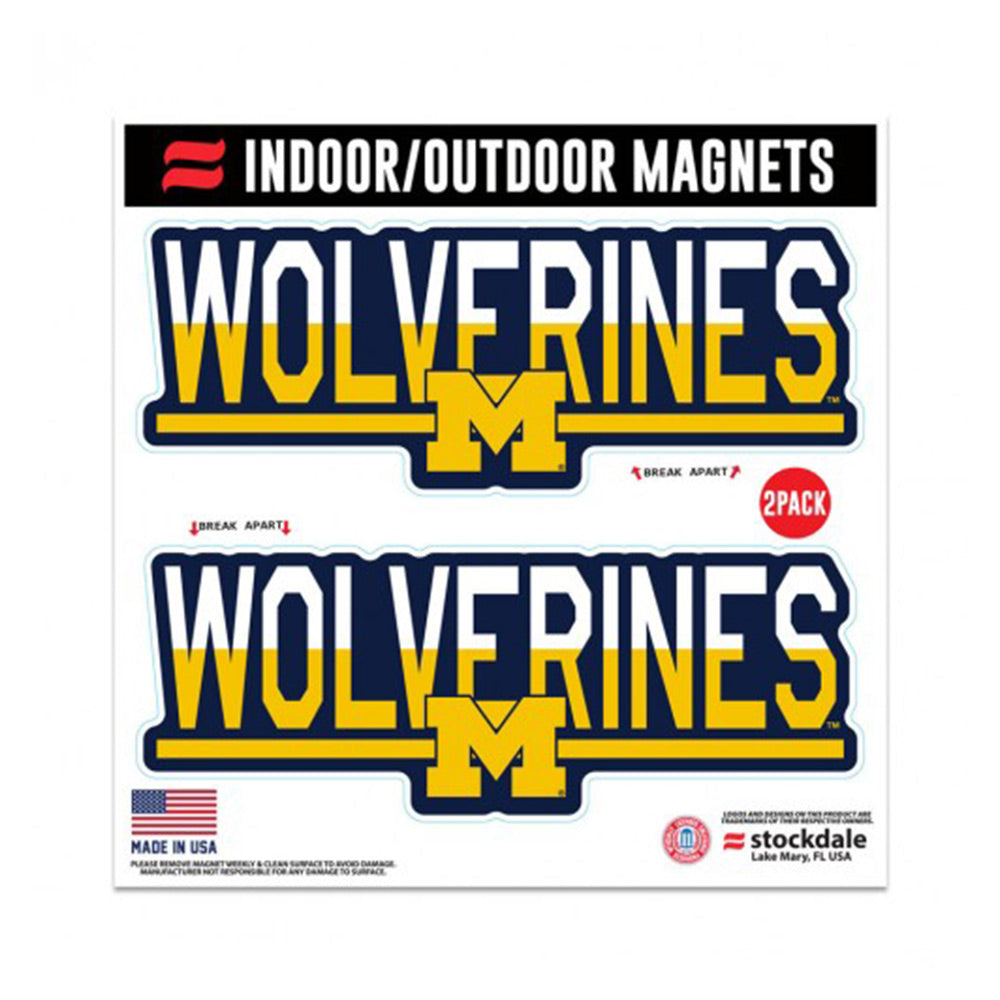 UM 2pk Wolverines Magnets