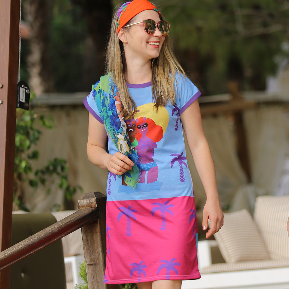 Hey Lollipop - Colourful Clothing Style, Summer, Colours and Sun inspired Resort Wear Lifestyle, Vivid and Bright Clothing, Unique Designs, Bright Holiday Clothing for Adventurers and Travel lovers. Funky and Fun. Wearable Art. Summer Holiday Dress