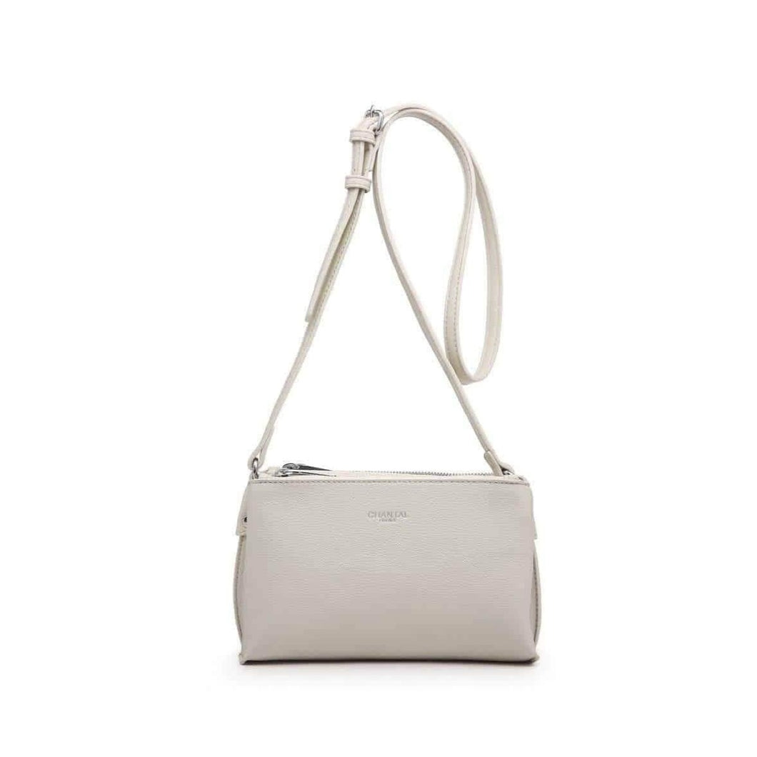 bolso bandolera chantal blanco