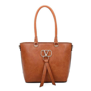 Mil Bolsos bolso shopper Marron / (20cm<Max Length<30cm) Bolso Tote SANTORINI