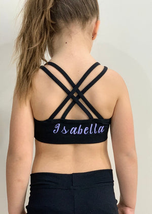 Personalised Active Crossback Crop Top