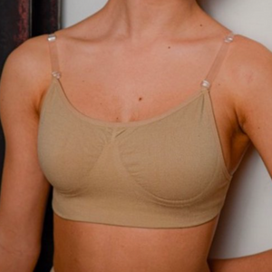 Convertible Dance Bra with Clear Straps and Clear Backstrap