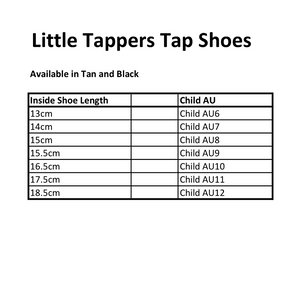 Little Tappers Tap Shoes Black and Tan