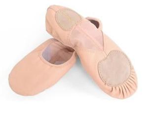 Leather Mesh Split Sole Ballet Shoes