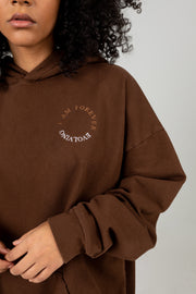 FOREVER EVOLVING BROWN OVERSIZED HOODIE
