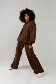FOREVER EVOLVING BROWN FLARED SWEATPANTS