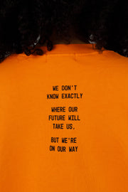 SOMEWHERE SOCIETY ORANGE CREWNECK