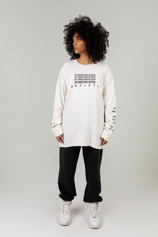 SOMEWHERE SOCIETY CREAM LONG SLEEVE