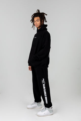 MAYFAIR X THE UNCOMFORTABLE BLACK SWEATPANTS