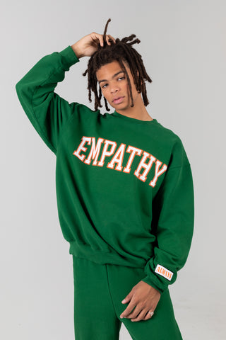 EMPATHY ALWAYS Green Crewneck