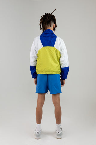 Vintage Blue and Yellow Windbreaker