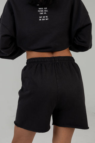 SOMEWHERE SOCIETY CHARCOAL SWEATSHORTS