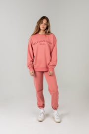 SELF LOVE CLUB Pink Crewneck