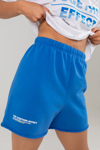 THE TOGETHER EFFECT BLUE SWEATSHORTS