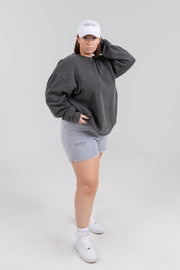 Self Love Club Members Only Grey/Charcoal Shorts