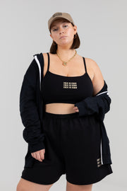 'Evolve or Remain' Black Bralette