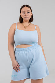 CHILL OUT PERIWINKLE CROPPED TANK