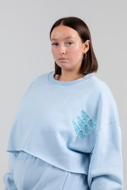 'Chill Out' Periwinkle Crewneck