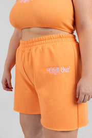 'Chill Out' Coral Shorts