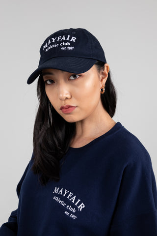 'Mayfair Athletics' Navy Hat