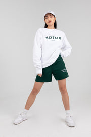'Mayfair Athletics' White Crewneck
