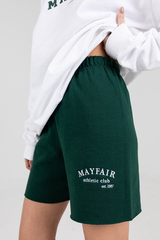 'Mayfair Athletics' Green Sweatshorts