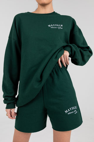 'Mayfair Athletics' Green Crewneck