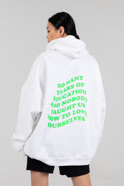 'Education' Oversized Green Hoodie