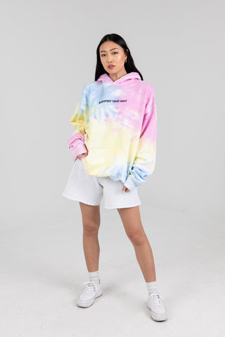 Tie Dye Oversized 'Manifest That Shit' Hoodie