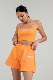 'Chill Out' Coral Cropped Tank
