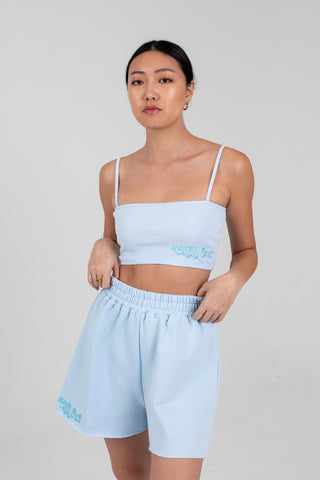 'Chill Out' Periwinkle Cropped Tank