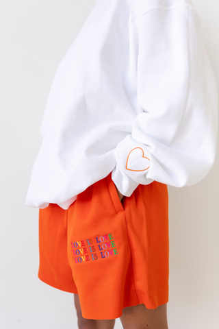 Love is Love Orange Shorts