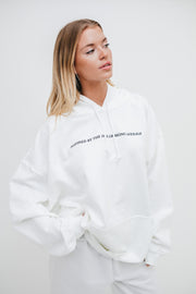 'Inspired by the Fear of Being Average' White Hoodie