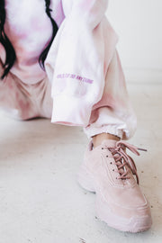 'Girls Can Do Anything' Pink Crewneck
