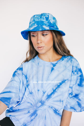 'Good Things are F*cking Coming' Tie Dye Bucket Hat