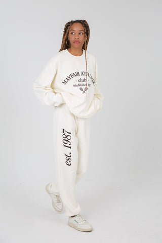 Mayfair Athletics Cream Sweatpants