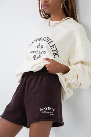 Mayfair Athletics Brown Sweat Shorts