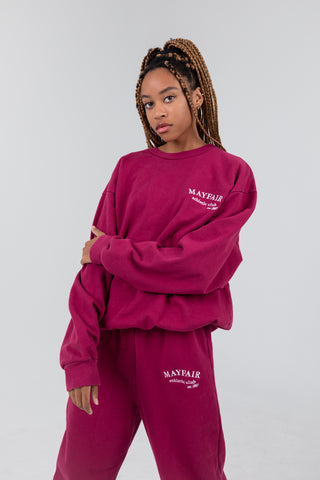 Mayfair Athletics Maroon Crewneck