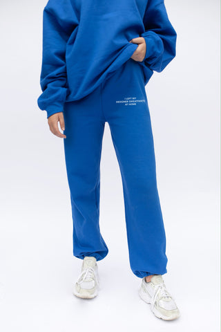 'Left My Designer' Royal Blue Sweatpants