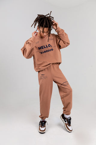 HELLO, GOODBYE CAMEL CREWNECK