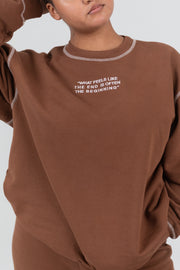 MAYFAIR PSA BROWN CREWNECK