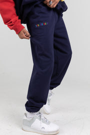 JUST BE KIND NAVY SWEATPANTS