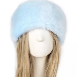 So Furry Headband - Baby blue - AmiriBeautyBar