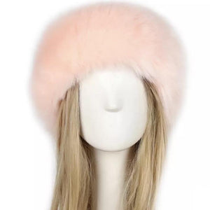 So Furry Headband - Baby pink - AmiriBeautyBar
