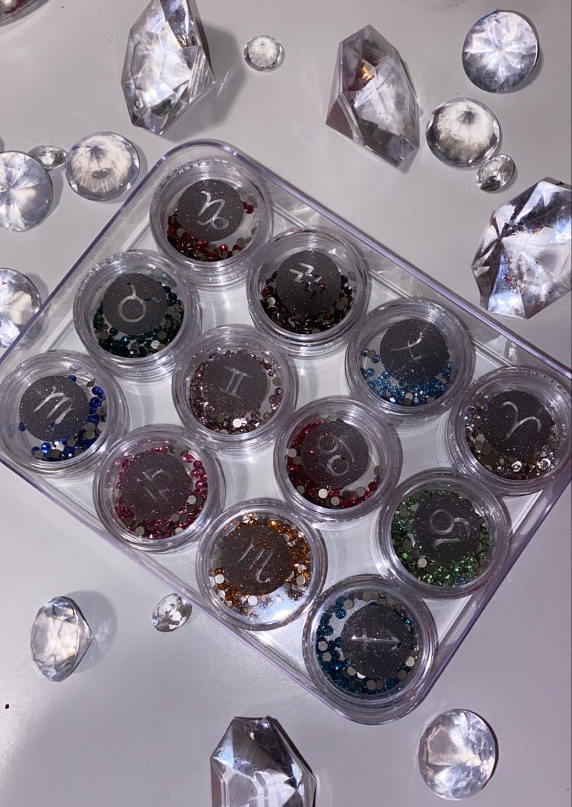 """What's Your Birthstone?"" Swarovski Birthstone Tooth Gem Collection Kit - AmiriBeautyBar"