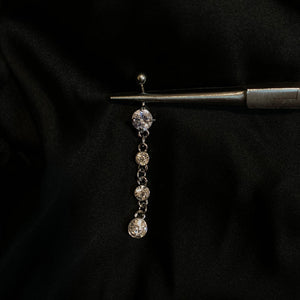 Diamanté - Dangle Belly Ring - AmiriBeautyBar