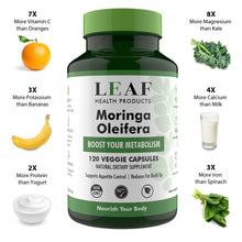 Load image into Gallery viewer, Moringa Leaf Capsules 120's