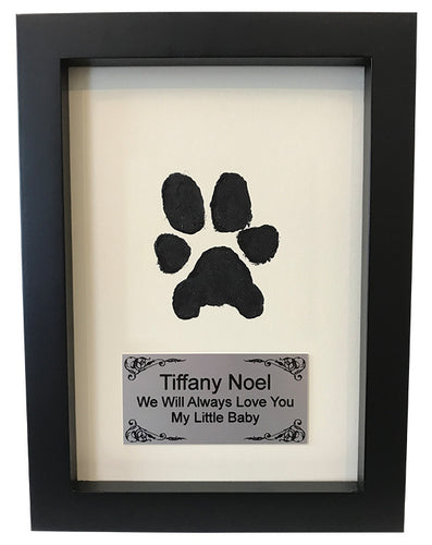 Framed Ink Print with Personalized Plaque